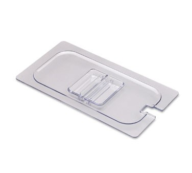 San Jamar CI7111NL Clear Chill-It 1/6 Size Notched Food Pan Lid