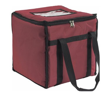 San Jamar FC1212-MRN Maroon Insulated 12 x 12 x 12 Food Carrier
