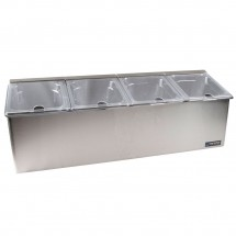 San Jamar FP8245NL EZ-Chill Four 1/4 Pan Condiment Center