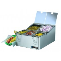 San Jamar FP9125FL EZ-Chill 5 Pan Condiment Center
