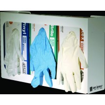 San Jamar G0804 White Disposable 3 Box Capacity Glove Dispenser