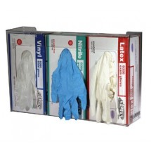 San Jamar G0805 Clear Disposable 3 Box Capacity Glove Dispenser