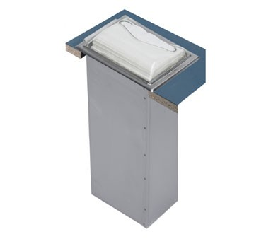 San Jamar H2005CLSS In-Counter Full Fold Napkin Dispenser, Clear and Stainless Steel