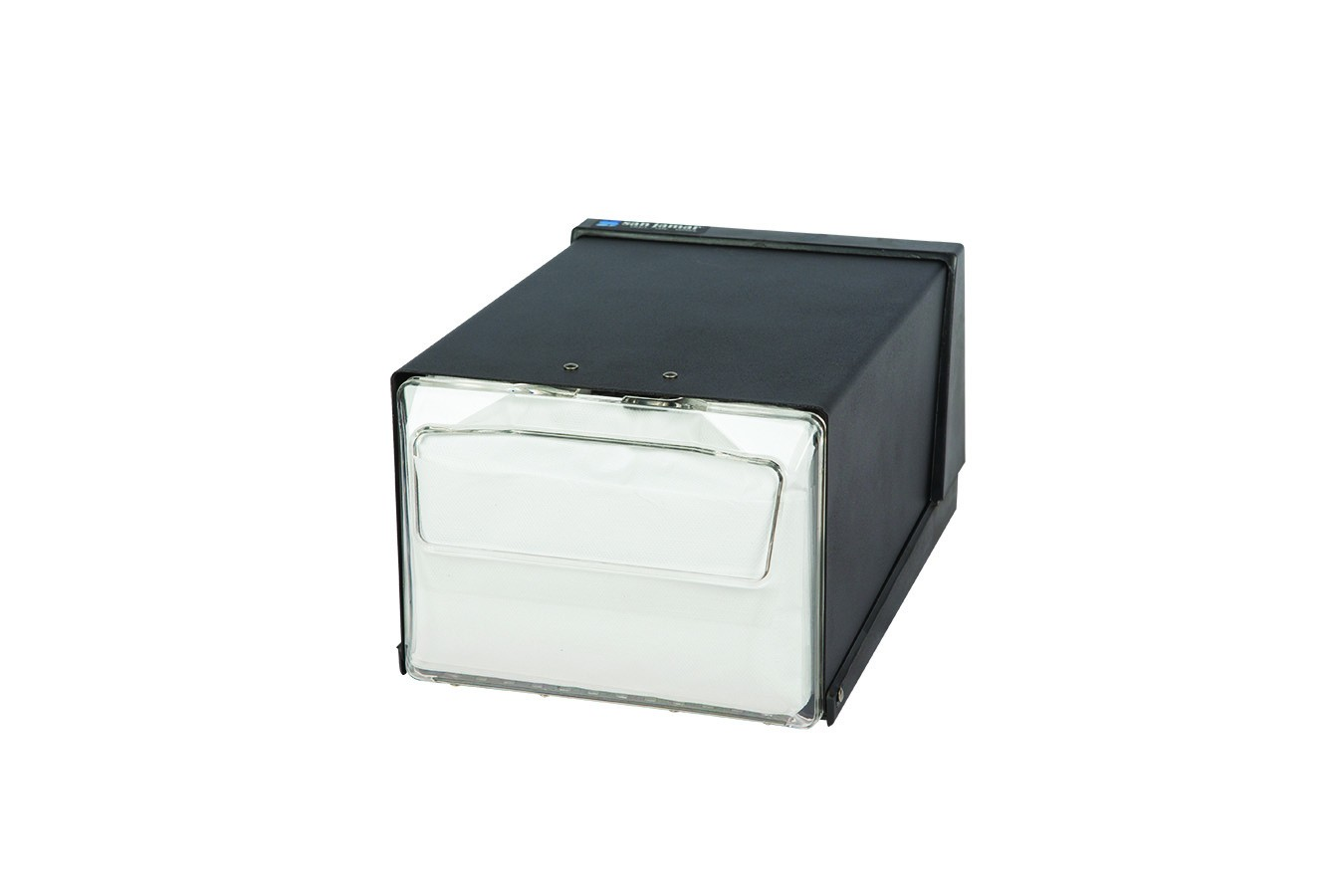 San Jamar H3001CLBK Clear And Black Countertop 300 Fullfold Napkin Dispenser