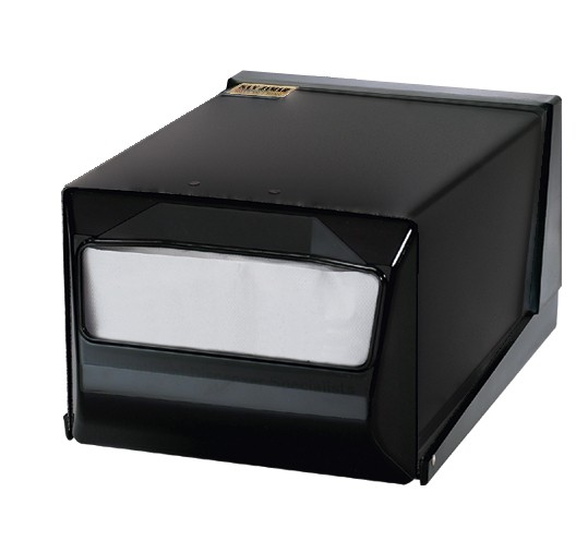 San Jamar H3001TBKBK Black And Pearl Black Countertop 300 Fullfold Napkin Dispenser