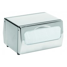 San Jamar H4000XC Chrome Tabletop 170 Minifold Napkin Dispenser