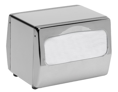 San Jamar H4001XC Chrome Tabletop 170 Fullfold Napkin Dispenser