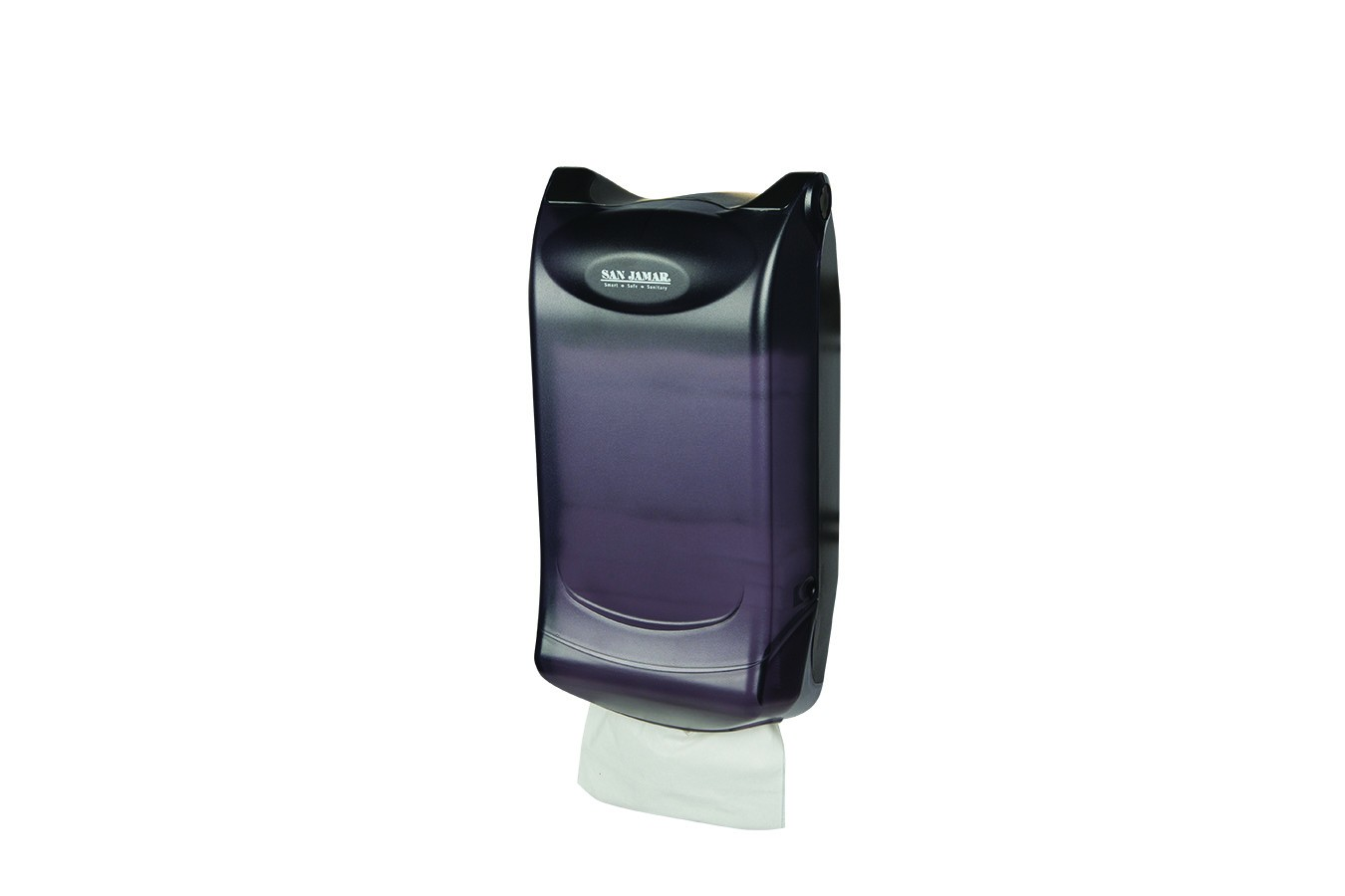 San Jamar H5003PTBK Black Pearl Venue Wall Mount 600 Interfold Napkin Dispenser