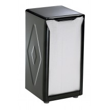 San Jamar H900BK Black Pearl Tabletop 150 Tallfold Napkin Dispenser