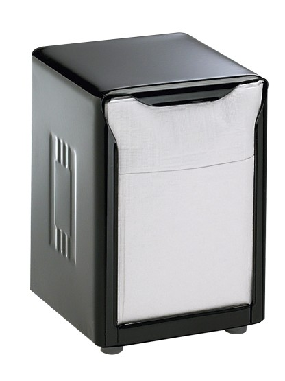 San Jamar H985BK Black Pearl Tabletop 150 Lowfold Napkin Dispenser