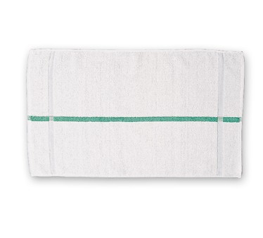 San Jamar HTI15GS Green Stripe Bar Towel
