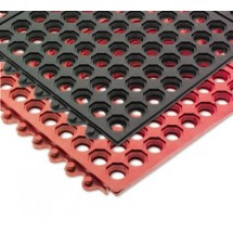 San Jamar KM1240B Red Connect-A-Mat Floor Matting