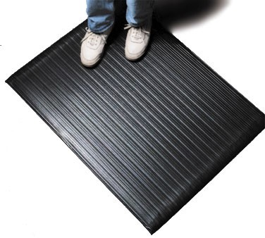 San Jamar KM4360BK Black Anti-Fatigue Sponge Floor Runner