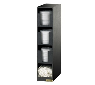 San Jamar L2203 Four Compartment Lid Dispenser and Straw Organizer