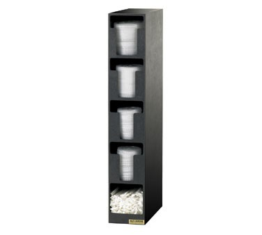 San Jamar L2204 Five Compartment Lid Dispenser and Straw Organizer