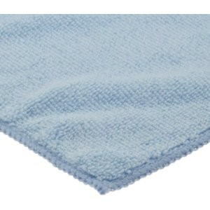 San Jamar MF100BL Blue Microfiber Bar Towels - 6 pack