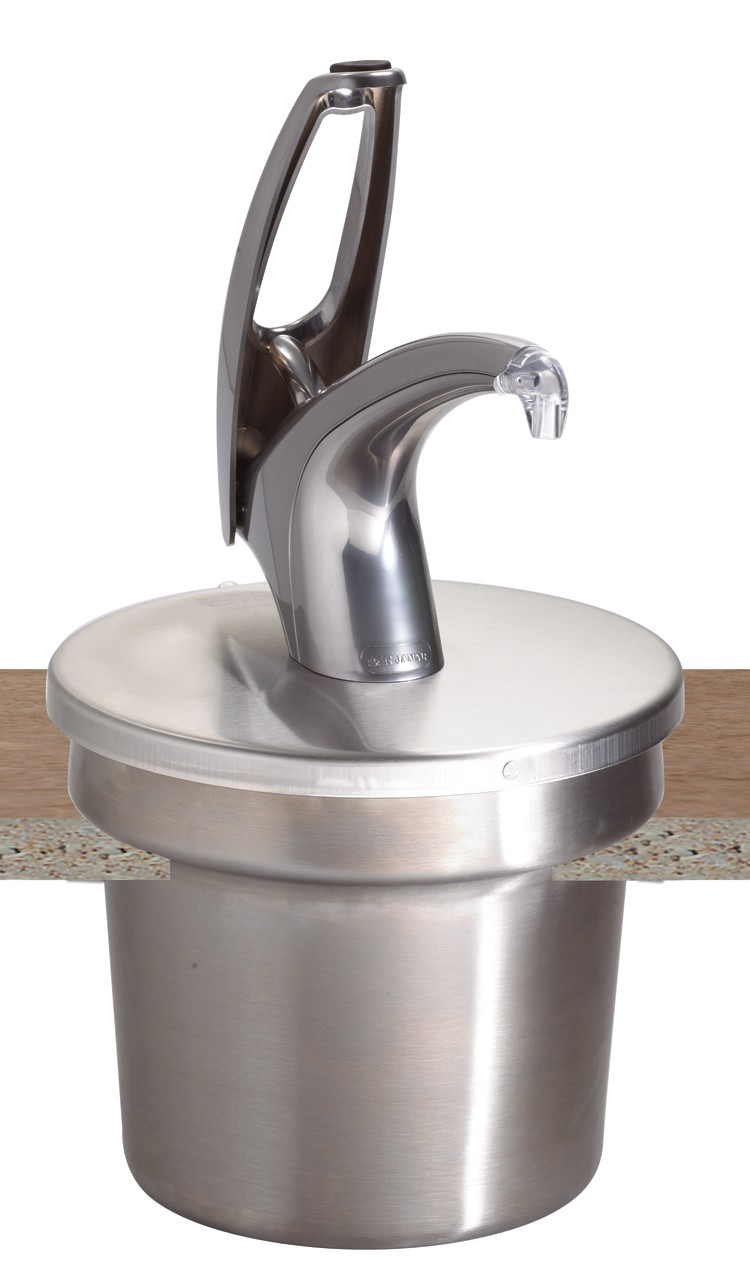 San Jamar P4710 Frontline Condiment Dispenser System With Polished Chrome Pump