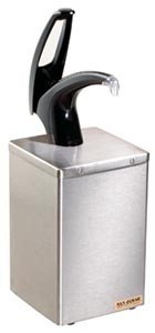 San Jamar P4800 Frontline Countertop Condiment Dispenser Box With Polished Chrome Pump