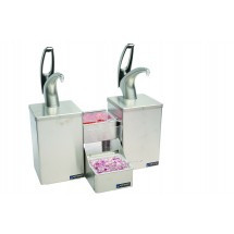San Jamar P4826 Frontline Countertop Dual Condiment System With Metal Finish