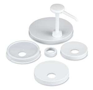 San Jamar P7310 White Economy Condiment Pump Kit
