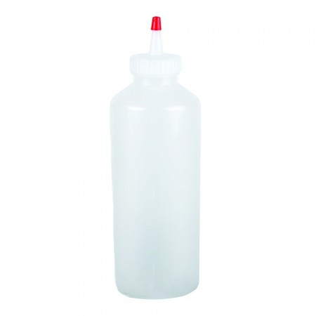 San Jamar P8024 Clear Professional Squeeze Bottle 24 oz.