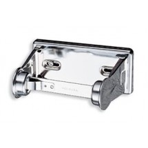 San Jamar R200XC Chrome Locking Standard Single Roll Bath Tissue