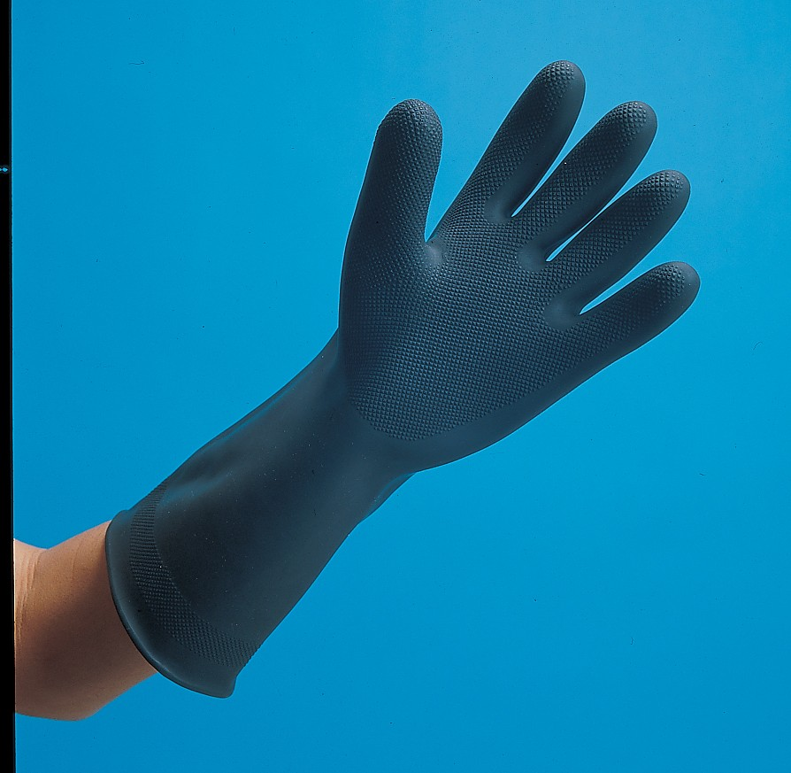 San Jamar R93517 Black Rubber Glove