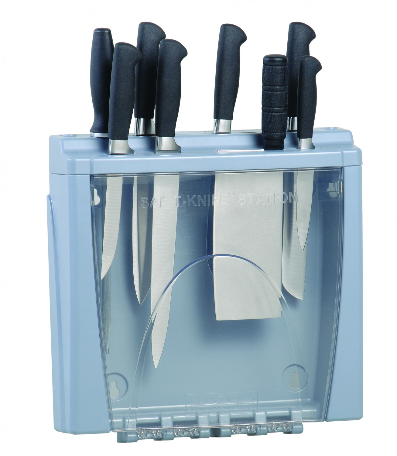 San Jamar STK1008 Saf-T-Knife Station Safe Food Preparation