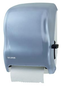 San Jamar T1100TBL Classic Arctic Blue Lever Touch Roll Towel Dispenser