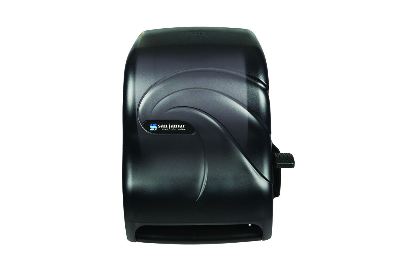 San Jamar T1190TBK Oceans Black Pearl Lever Touch Roll Towel Dispenser