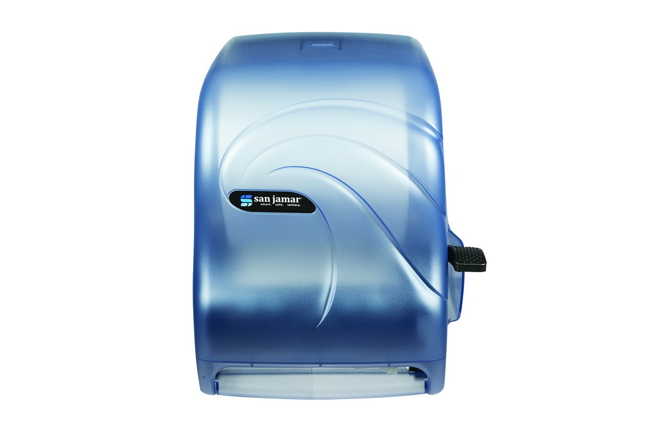 San Jamar T1190TBL Oceans Arctic Blue Lever Touch Roll Towel Dispenser