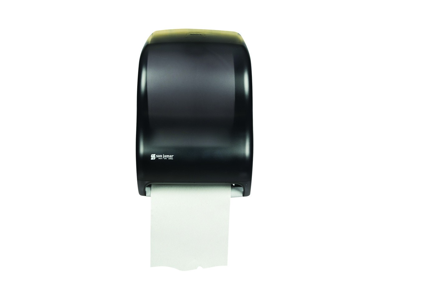 San Jamar T1300TBK Classic Black Pearl Tear-N-Dry Electronic No Touch Roll Towel Dispenser