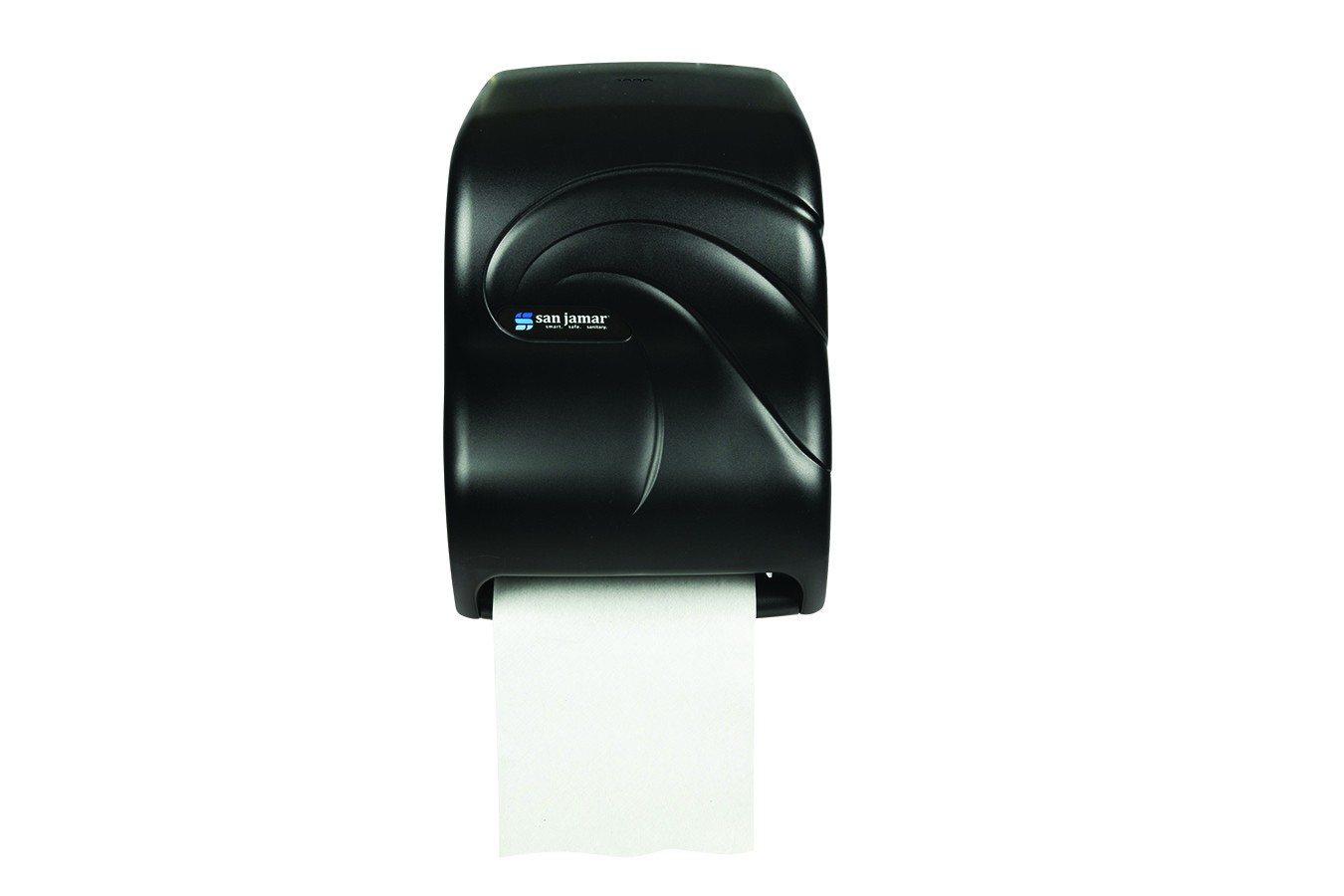 San Jamar T1390TBK Oceans Black Pearl Tear-N-Dry Electronic No Touch Roll Towel Dispenser