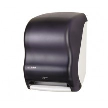 San Jamar T1400TBK Smart System Classic Hands Free Roll Towel Dispenser - Black Pearl
