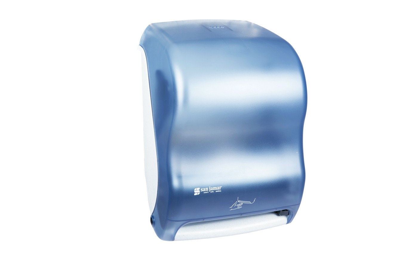 San Jamar T1400TBL Oceans Arctic Blue Smart System No Touch Roll Towel Dispenser