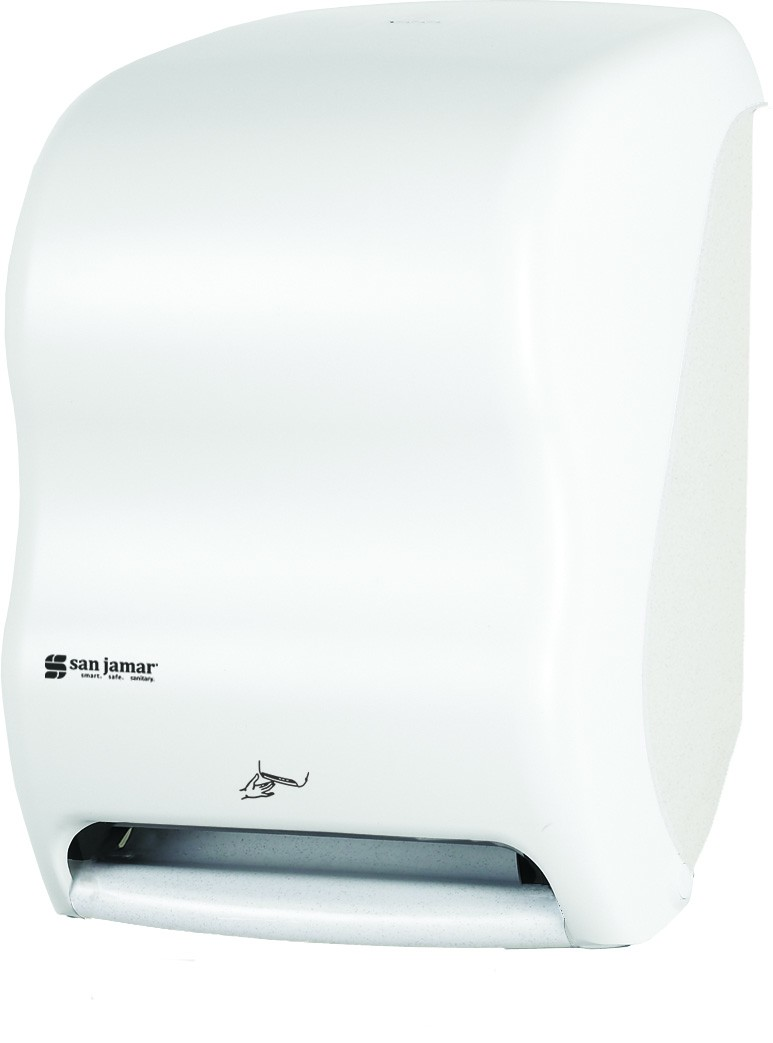 San Jamar T1400WH Smart System Classic Hands Free Towel Dispenser, White