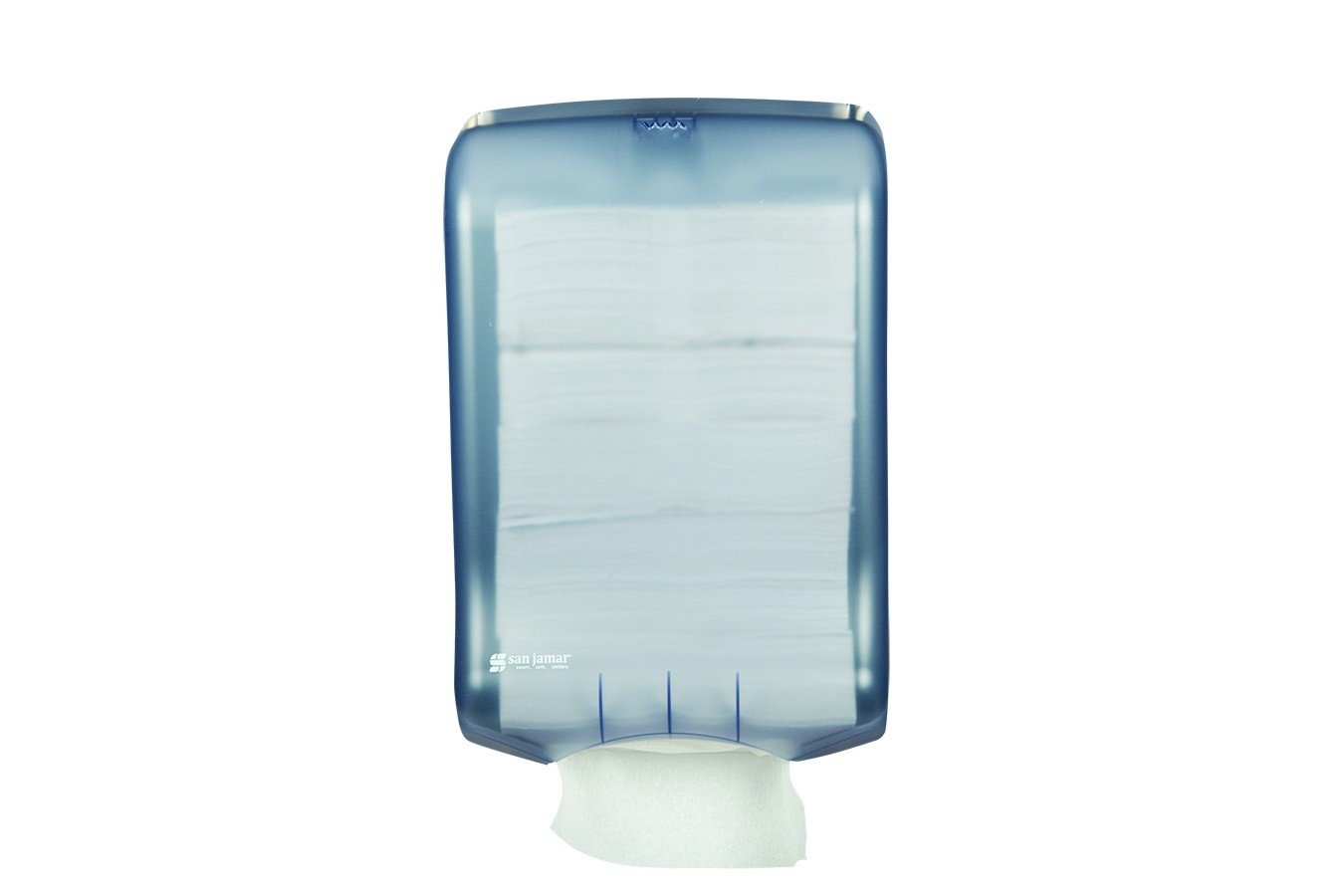 San Jamar T1700TBL Classic Arctic Blue Ultrafold Large Cap Folded Towel Dispenser