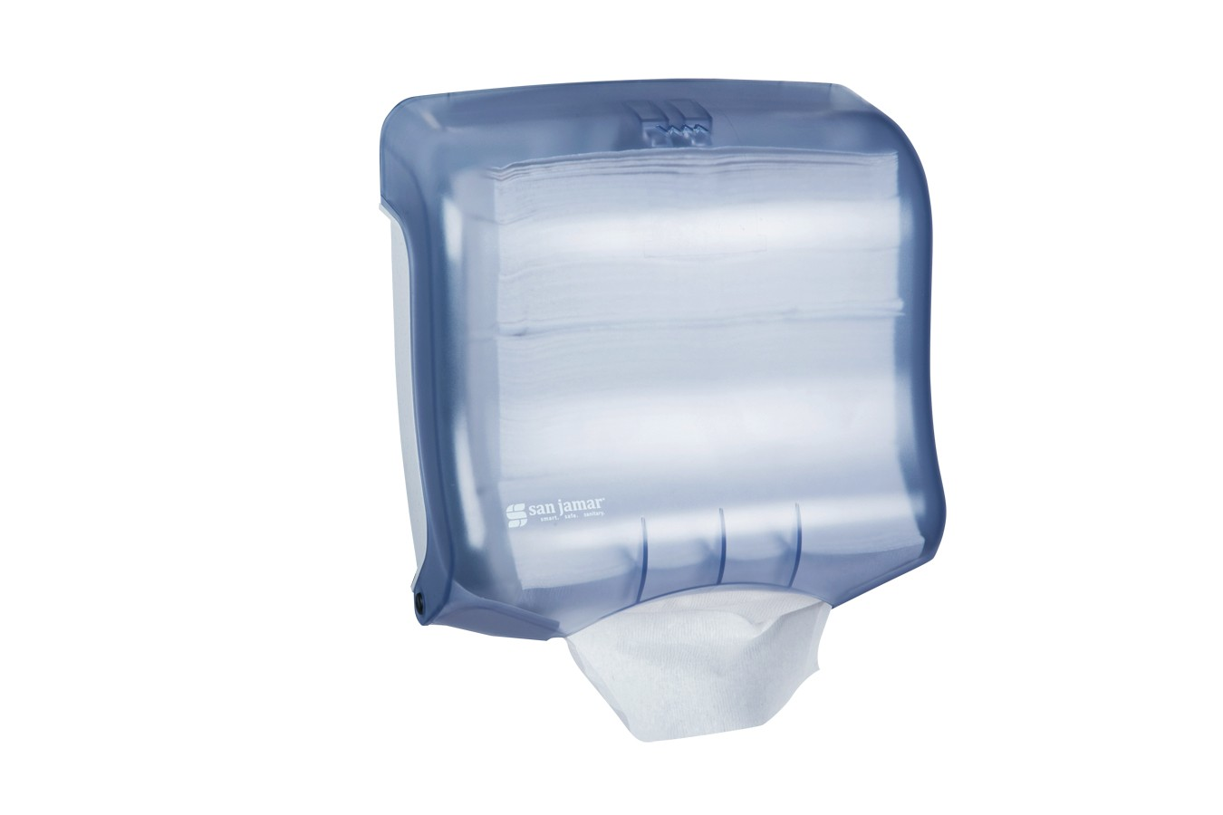 San Jamar T1750TBL Arctic Blue Ultrafold Folded Towel Dispenser