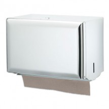 San Jamar T1800WH White Singlefold Folded Towel Dispenser