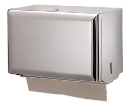 San Jamar T1800XC Chrome Singlefold Folded Towel Dispenser