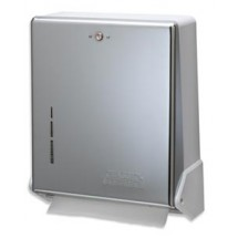 San Jamar T1905XC Chrome True Fold Folded Towel Dispenser