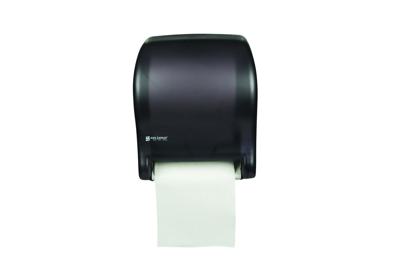 San Jamar T8000TBK Black Tear-N-Dry Essence No Touch Roll Towel Dispenser