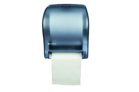 San Jamar T8000TBL Arctic Blue Tear-N-Dry Essence No Touch Roll Towel Dispenser