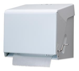 San Jamar T800WH Classic White Crank Roll Towel Dispenser