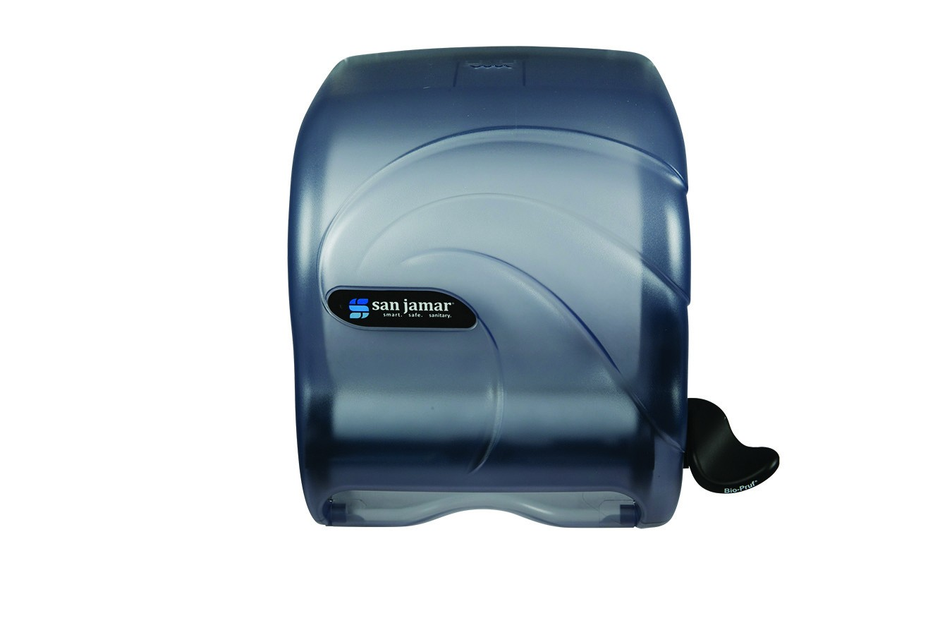 San Jamar T990TBL Oceans Arctic Blue Element Touch Roll Towel Dispenser