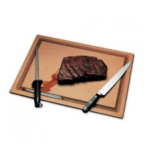 "San Jamar TC121812GV Tuff-Cut Grooved Cutting Board 12"" x 18"""