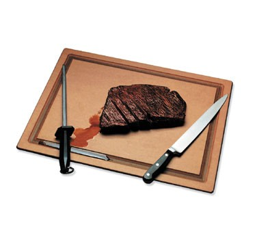 "San Jamar TC152012GV Tuff-Cut Grooved Cutting Board 15"" x 20"""