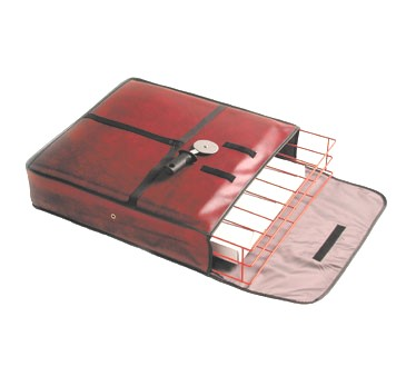"San Jamar TPB24-MRN Pizza Carrier 24"" x 24"" x 5"""