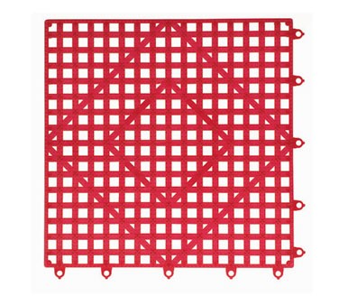 San Jamar VM5280RD-12 Red Versa-Mat 12 Pack Shelf Matting