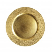 """Sand Charger Plate Gold 13"""""""